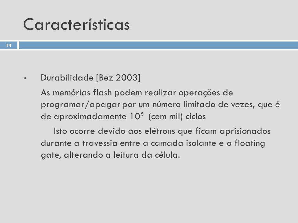 Características Durabilidade [Bez 2003]